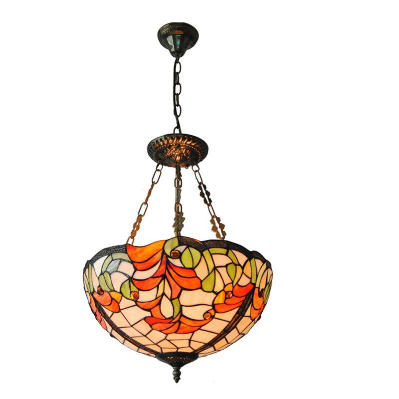 Modern Art Crafts Nordic Stained Glass Lamp Shade Lustre Vanity Pendant Light Fixtures Chandelier Restaurant Coffee Luminaire DFNDD-10