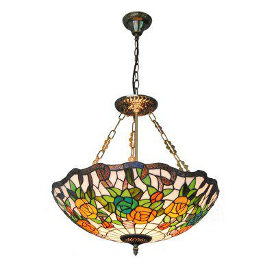 Buy COLORMIX Modern Art Crafts Nordic Stained Glass Lamp Shade Lustre Vanity Pendant Light Fixtures Chandelier Restaurant Coffee Luminaire DFNDD-11 for $202.62 in GearBest store