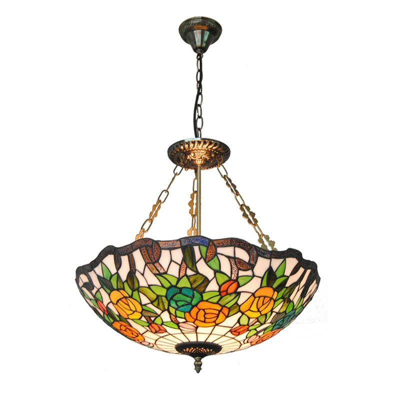 Modern Art Crafts Nordic Stained Glass Lamp Shade Lustre Vanity Pendant Light Fixtures Chandelier Restaurant Coffee Luminaire DFNDD-11