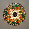 Modern Art Crafts Nordic Stained Glass Lamp Shade Lustre Vanity Pendant Light Fixtures Chandelier Restaurant Coffee Luminaire DFNDD-11 - COLORMIX