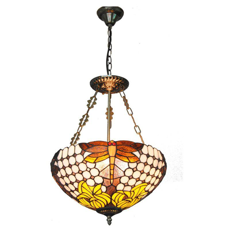 Modern Art Crafts Nordic Stained Glass Lamp Shade Lustre Vanity Pendant Light Fixtures Chandelier Restaurant Coffee Luminaire DFNDD-14