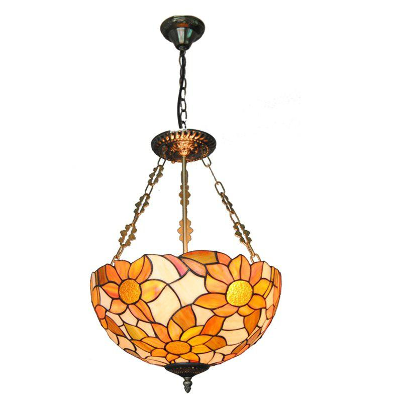 Modern Art Crafts Nordic Stained Glass Lamp Shade Lustre Vanity Pendant Light Fixtures Chandelier Restaurant Coffee Luminaire DFNDD-16
