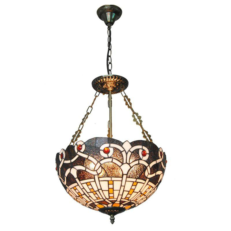 Modern Art Crafts Nordic Stained Glass Lamp Shade Lustre Vanity Pendant Light Fixtures Chandelier Restaurant Coffee Luminaire DFNDD-17