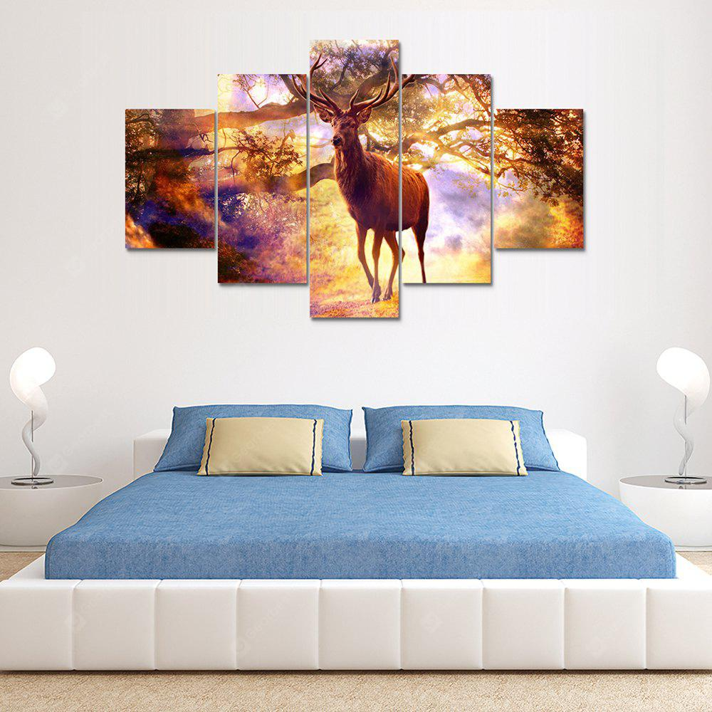 Color Deer Canvas Print Painting Home Decoration Wall Rrt Picture 5 Panel