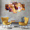 Color Deer Canvas Print Painting Home Decoration Wall Rrt Picture 5 Panel - COLORMIX