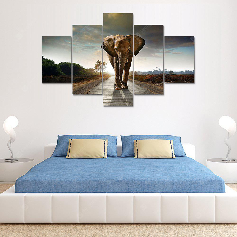 Giant Elephant Canvas Print Painting Home Decoration Wall Rrt Picture 5 Panel