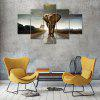Giant Elephant Canvas Print Painting Home Decoration Wall Rrt Picture 5 Panel - COLORMIX