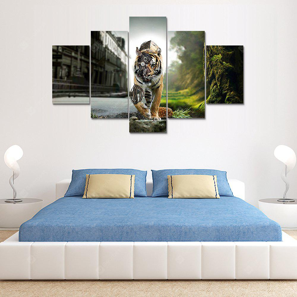Tiger Canvas Print Painting Home Decoration Wall Art Picture 5 Panel