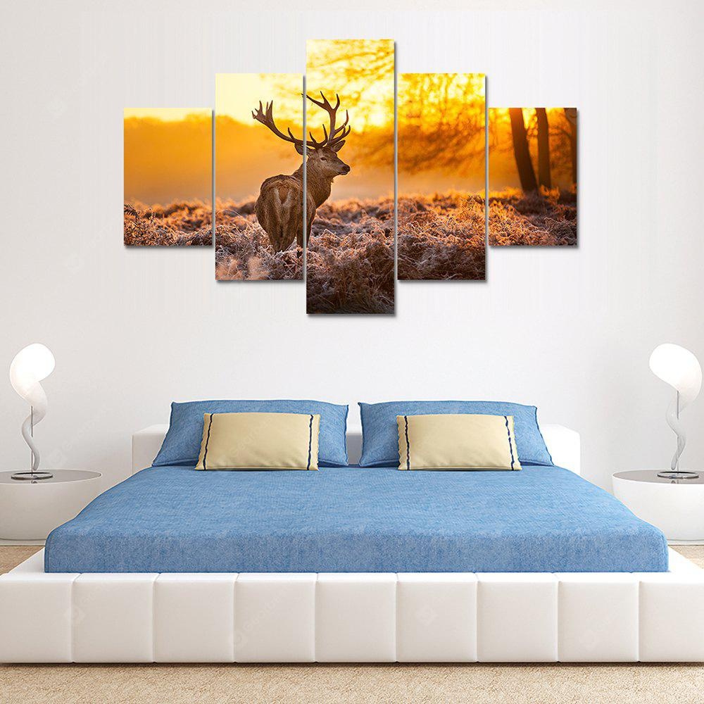 Animal Deer Canvas Print Painting Home Decoration Wall Art Picture 5 Panel