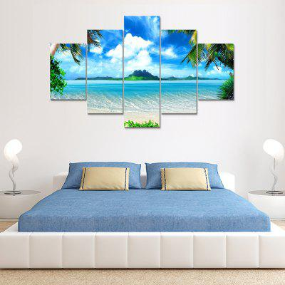 Blue Sea Canvas Print Painting Home Decoration Wall Art Picture 5 Panel