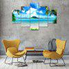 Blue Sea Canvas Print Painting Home Decoration Wall Art Picture 5 Panel - COLORMIX