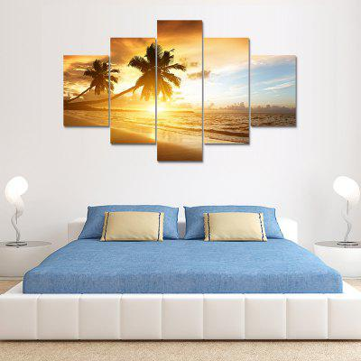 Caribbean Coast Canvas Print Painting Home Decoration Wall Art Picture 5 Panel