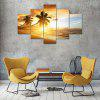 Caribbean Coast Canvas Print Painting Home Decoration Wall Art Picture 5 Panel - COLORMIX