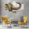 Colorful Elephant Canvas Print Painting Home Decoration Wall Art Picture 5 Panel - COLORMIX