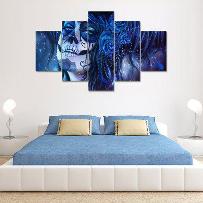 Dead Face Canvas Print Painting Home Decoration Wall Art Picture 5 Panel