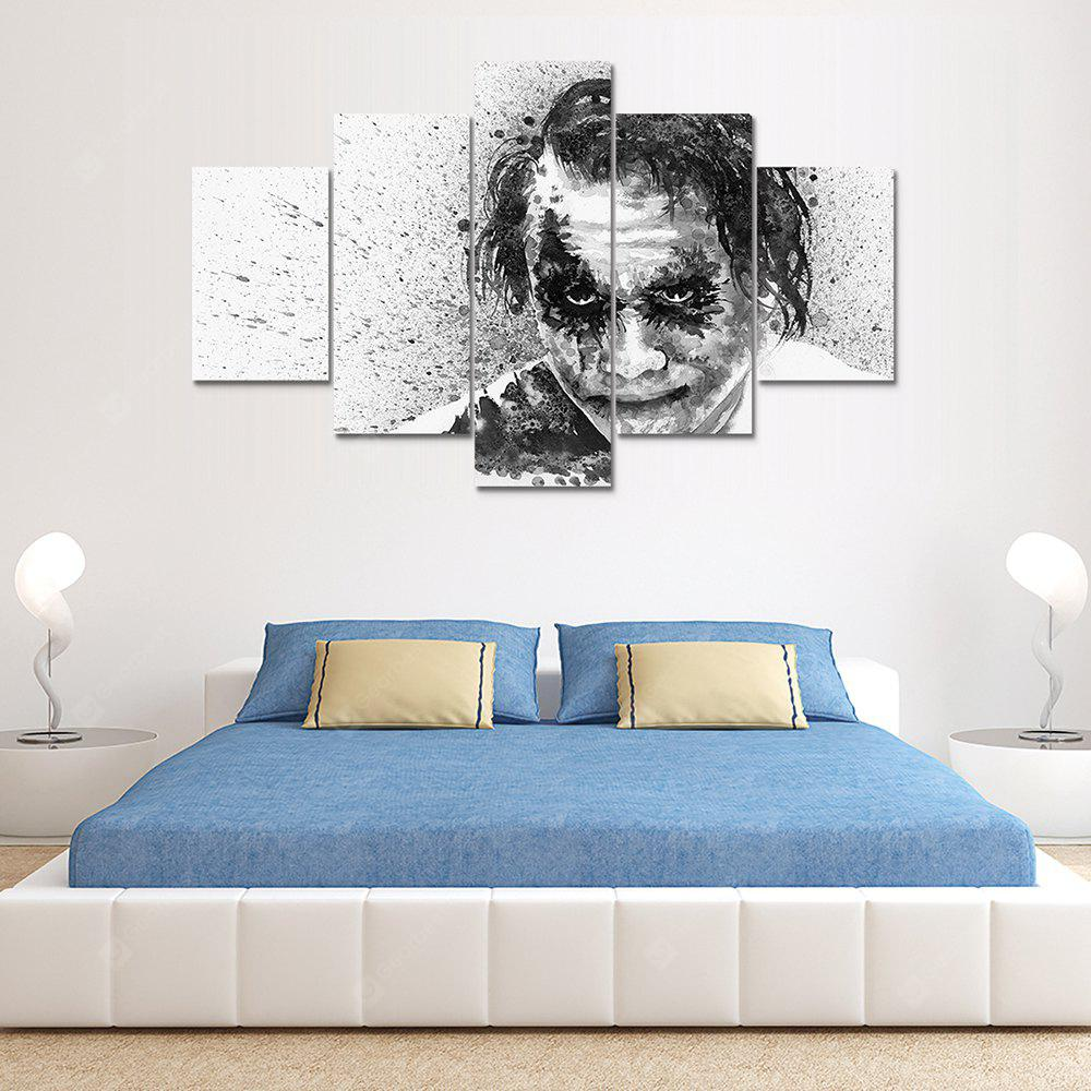 Joker A Canvas Print Painting Home Decoration Wall Art Picture 5 Panel