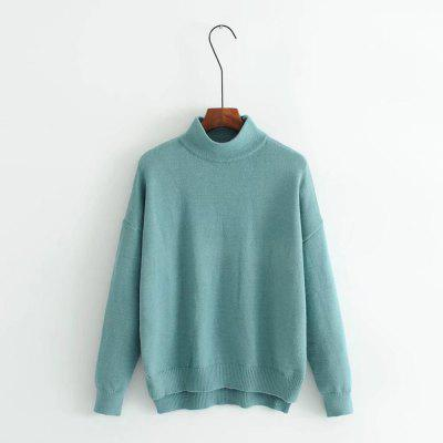 The New 2017 Ladies Half Tall Blue Sweater