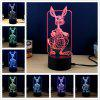 M.Sparkling TD195 Creative Animal 3D LED Lamp - COLORFUL