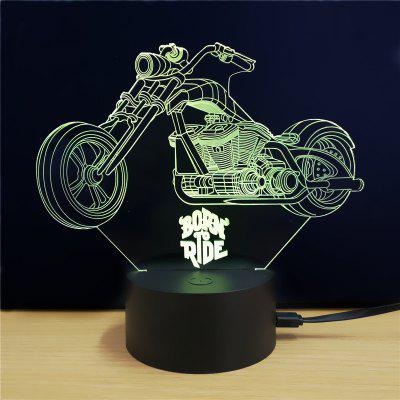 M.Sparkling TD076 Creative Motorcycle 3D LED Lamp3D Lamps<br>M.Sparkling TD076 Creative Motorcycle 3D LED Lamp<br><br>Brand: M.Sparkling<br>Feature: Rechargeable<br>Light Source Color: RGB<br>Package Content: 1xAcrylicBoard,1xABSPedestal,1xUSBCable,1xEnglishManual<br>Package Size ( L x W x H ): 24.00 x 17.00 x 5.00 cm / 9.45 x 6.69 x 1.97 inches<br>Product Size(L x W x H): 15.00 x 22.00 x 8.50 cm / 5.91 x 8.66 x 3.35 inches<br>Type: Car<br>Voltage (V): 5V