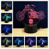 M.Sparkling TD076 Creative Motorcycle 3D LED Lamp - COLORFUL