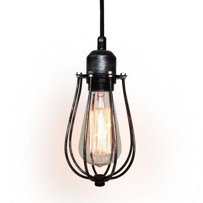 Buy DARK GREY US P10011 Industrial Barn Pendant Light Vintage Rustic Kitchen Loft Ceiling Lamp for $65.23 in GearBest store