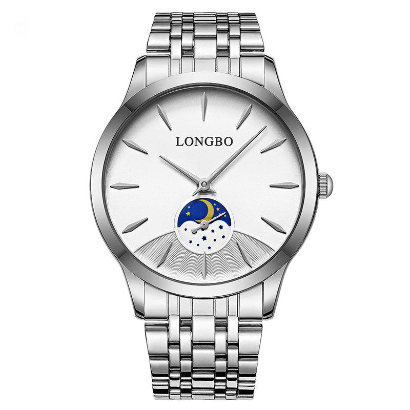 LONGBO 8 Series 80306 Moda Casual No Day Couples Watch 1 grau impermeável