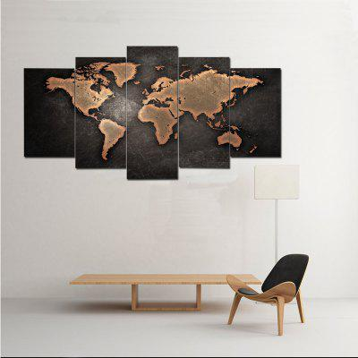 World map canvas prints 5 pcs 30x40cmx2 30x60cmx2 30x80cmx2 1398 world map canvas prints 5 pcs gumiabroncs Image collections