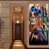 Modern Indians Modular Canvas Wall Painting 3pcs - COLORFUL