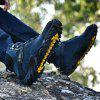 Hiking Shoes For Mountain Camping Climbing Breathable Outdoor Sports Tactical Men Boots Plus Size 38-45 - BLUE