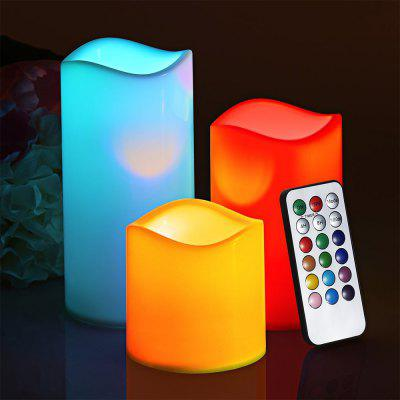 Buy OFF-WHITE Youoklight 3PCS 1W Dc5v 12 Color Led Smokeless Flickering Electronic Candles Light No Batteries Included for $11.70 in GearBest store
