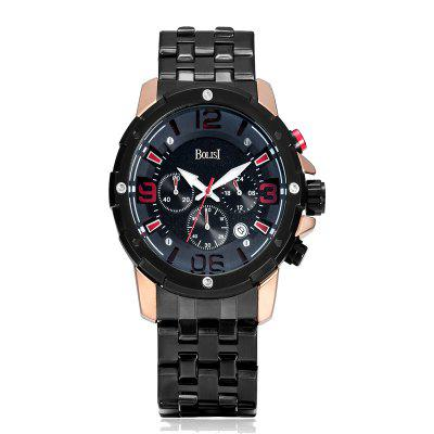 Buy ROSE GOLD BOLISI 8205 4649 Classic Business Steel Band Men Quartz Watch for $23.99 in GearBest store