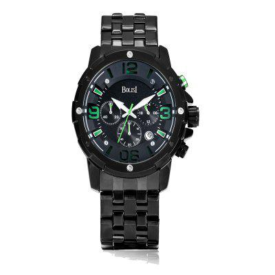 Buy GREEN BOLISI 8205 4649 Classic Business Steel Band Men Quartz Watch for $23.99 in GearBest store