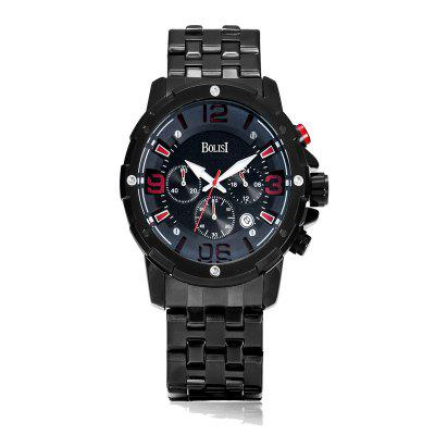 Buy RED BOLISI 8205 4649 Classic Business Steel Band Men Quartz Watch for $23.99 in GearBest store