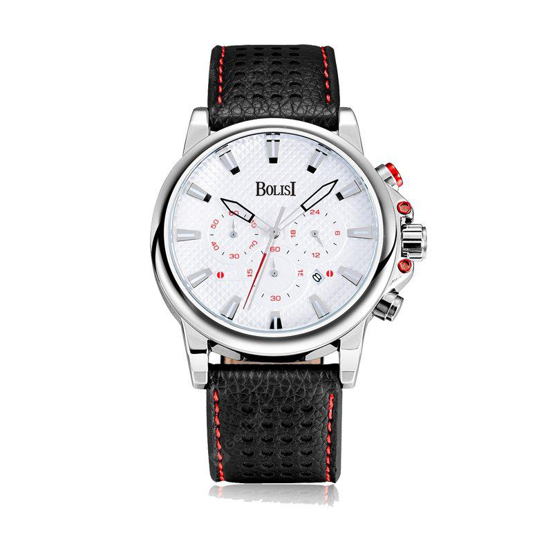 BOLISI 8215 4670 Waterproof and Stylish Belt Men Quartz Watch with Box