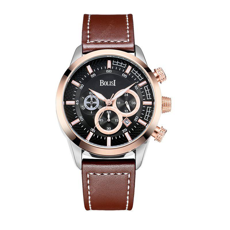 BOLISI 8216 4671 Business Casual with Calendar of Three Sets of Men Quartz Watch with Box