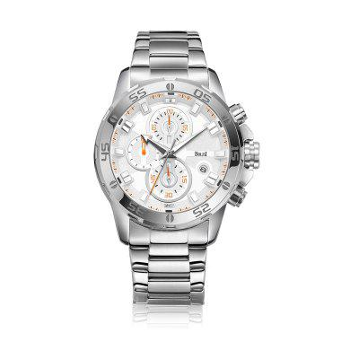 BOLISI 8218 4673 Leisure and Simple Waterproof Steel Band Men Quartz Watch with Box