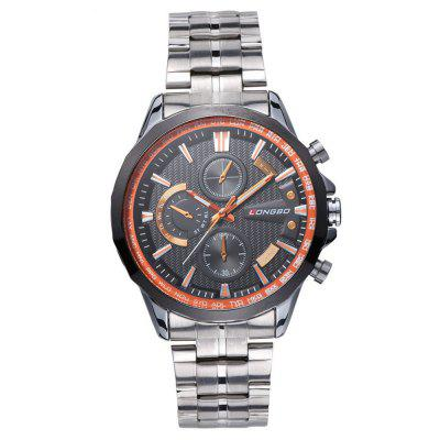 Buy Longbo 80235 4691 Business Steel Band Waterproof Men Quartz Watch, WHITE AND ORANGE, Watches & Jewelry, Men's Watches for $8.26 in GearBest store
