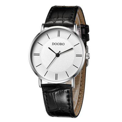 DOOBO D002 4737 Men Business Leather Band Quartz WatchMens Watches<br>DOOBO D002 4737 Men Business Leather Band Quartz Watch<br><br>Band material: Leather<br>Band size: 23 x 1.9cm<br>Brand: DOOBO<br>Case material: Alloy<br>Clasp type: Pin buckle<br>Dial size: 3.6 x 3.6 x 0.8cm<br>Display type: Analog<br>Movement type: Quartz watch<br>Package Contents: 1 x Watch, 1 x Box<br>Package size (L x W x H): 28.00 x 8.00 x 3.50 cm / 11.02 x 3.15 x 1.38 inches<br>Package weight: 0.0620 kg<br>Product size (L x W x H): 23.00 x 3.60 x 0.80 cm / 9.06 x 1.42 x 0.31 inches<br>Product weight: 0.0320 kg<br>Shape of the dial: Round<br>Watch mirror: Mineral glass<br>Watch style: Casual, Fashion, Outdoor Sports, Business<br>Watches categories: Men<br>Water resistance: 100 meters