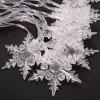 2M 20-LED Snowflake Lights Battery Powered String Lights for Christmas Party Home Decoration - WHITE LIGHT