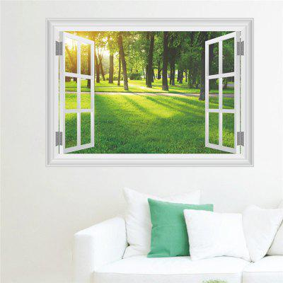 Buy New Style 3D Sunlight Forest Grass False Window Wall Sticker, COLORMIX, Home & Garden, Home Decors, Wall Art, Wall Stickers for $4.97 in GearBest store