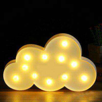 Buy WHITE BRELONG 3D Clouds Warm White Decoration Night Light for Kids Room Christmas Wedding 3V for $7.34 in GearBest store