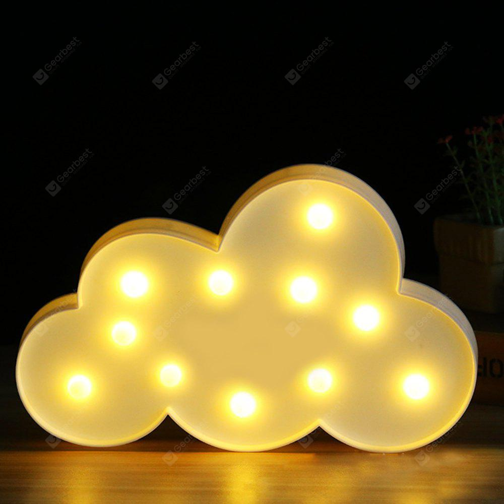 BRELONG 3D Clouds Warm White Decoration Night Light for Kids Room Christmas Wedding 3V