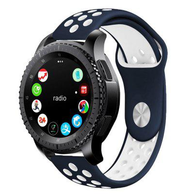 Buy Soft Silicone Band Replacement Strap for Gear S3, BLUE + WHITE, Consumer Electronics, Smart Watch Accessories for $4.28 in GearBest store