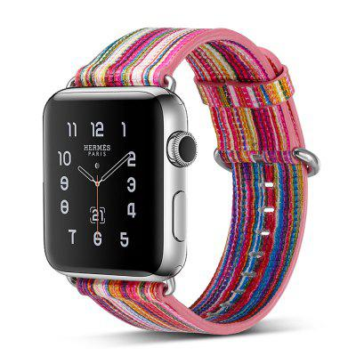 Buy TUTTI FRUTTI Genuine Leather Iwatch Strap Rainbow Replacement Bands with Stainless Metal Clasp for Apple Watch Series 3 Series 2 Series 1 38mm for $20.45 in GearBest store