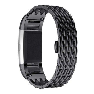 Buy Luxury Stainless Steel Metal Chain Watch Strap For Fitbit Charge 2, BLACK, Consumer Electronics, Smart Watch Accessories for $24.71 in GearBest store