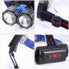 Ultrafire Cree Xml T6 1300LM 3 Files Dual Lights Light Headlights - BLACK AND BLUE