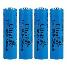 UltraFire 18650 3.7V actual capacity of 2200mAh rechargeable lithium battery 4 groups