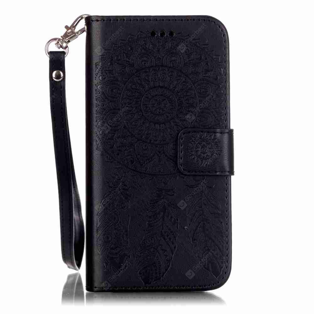 Embossing Campanula PU Phone Case for iPhone 6 Plus / 6S Plus