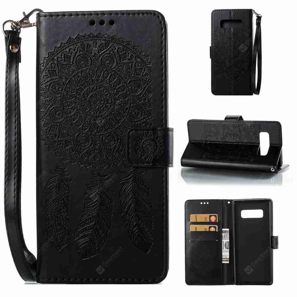 Embossing Campanula PU Phone Case for Samsung Galaxy  Note 8