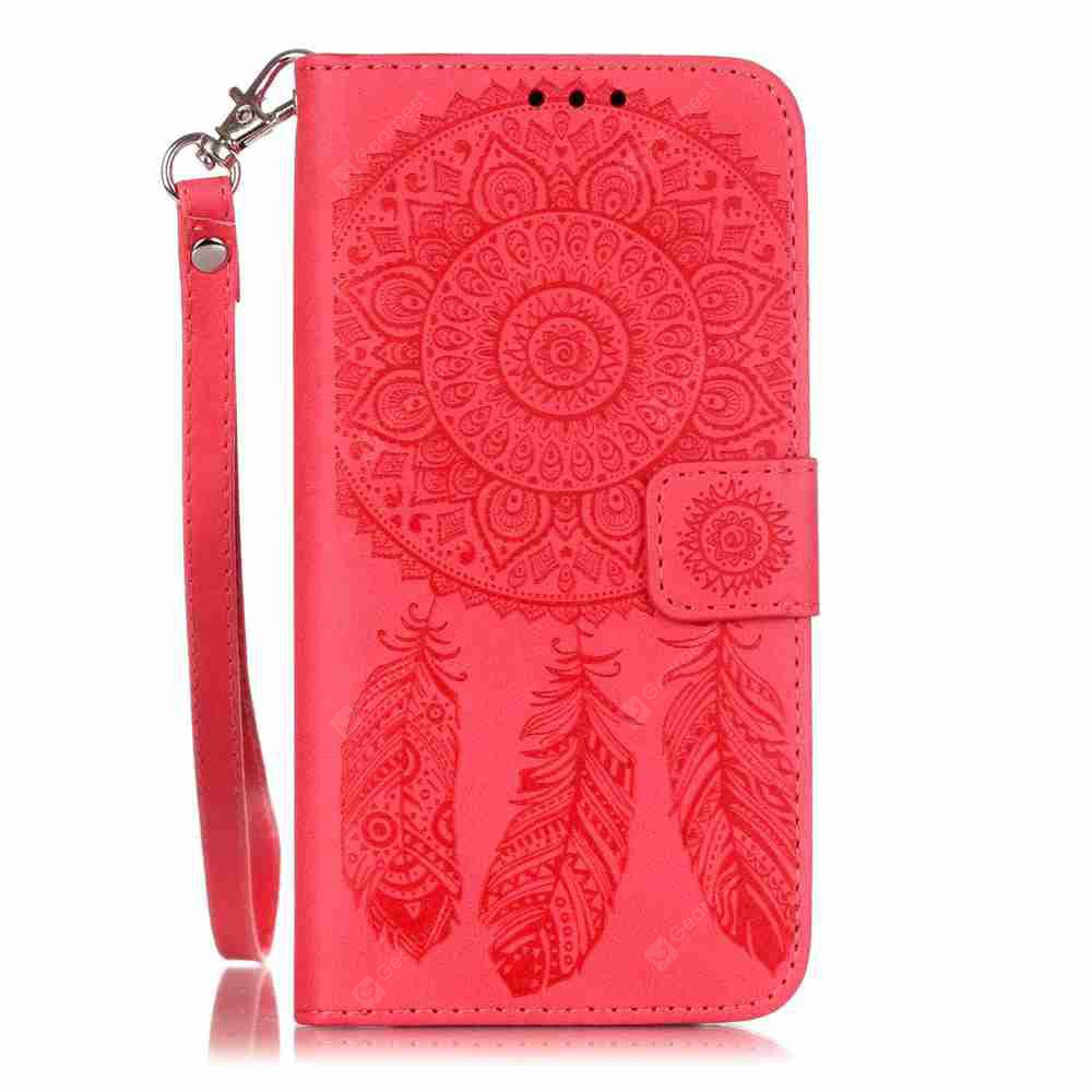 Embossing Campanula PU Phone Case for Samsung Galaxy S6
